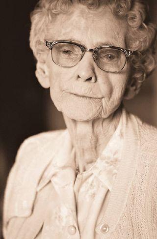 Elderly Concerned Woman